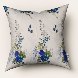 Fata de perna flori albastre 70cm x 70cm